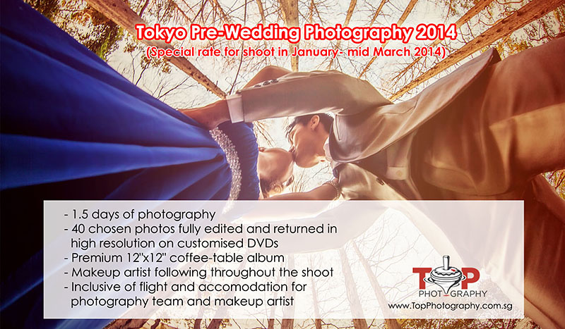 Overseas Pre Wedding Photography Singapore Tokyo